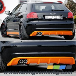 ЗАДЕН ДИФУЗЬОР ЗА AUDI A3 8P/8PA Rieger Tuning